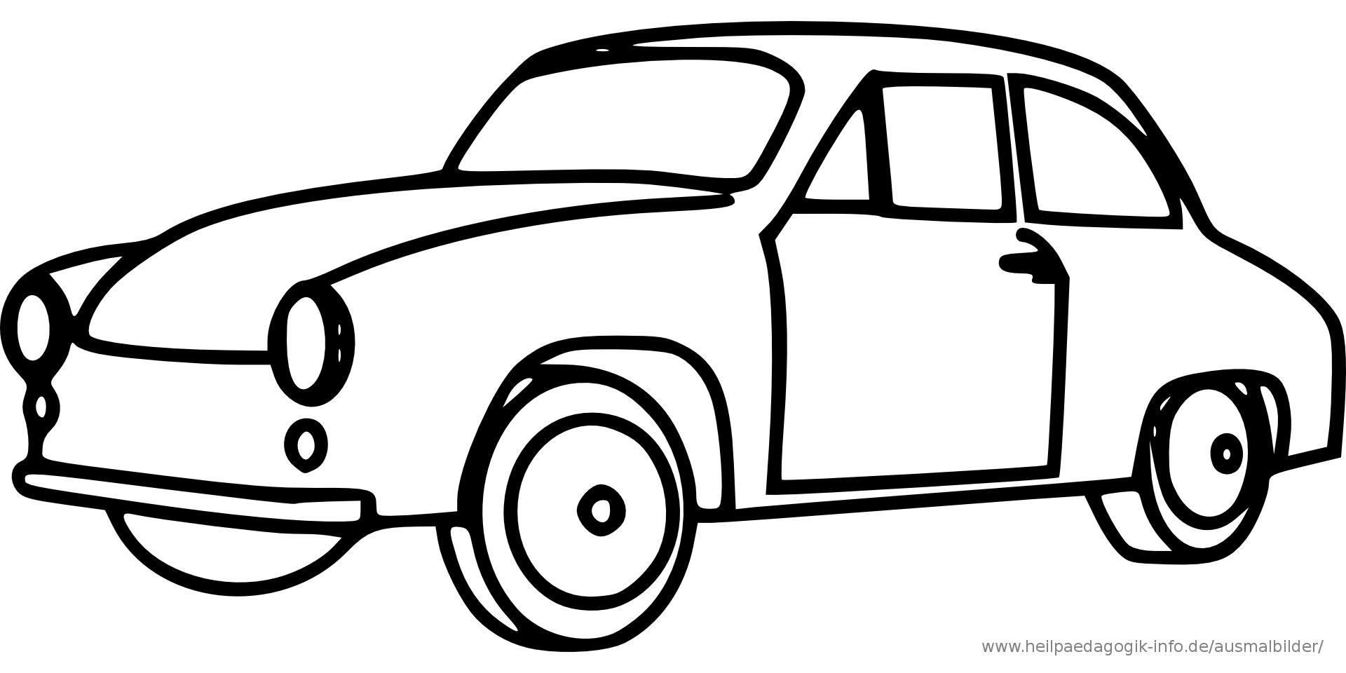 Malvorlage auto einfach - Ausmalbilder für kinder