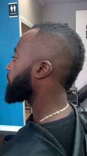 mohawk bald fade & beard lining