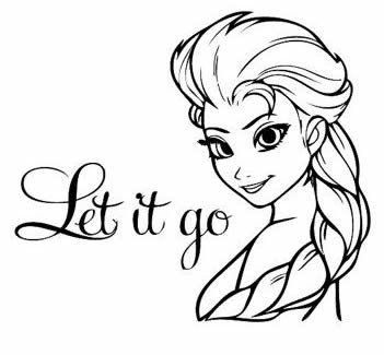 Frozen Elsa Let It Go Black Car Truck VINYL Decal Art Wall