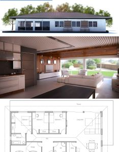 Small house design with three bedrooms simple open floor plan also epiteszet pinterest plans rh