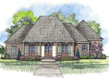Acadian House Plans with Porches