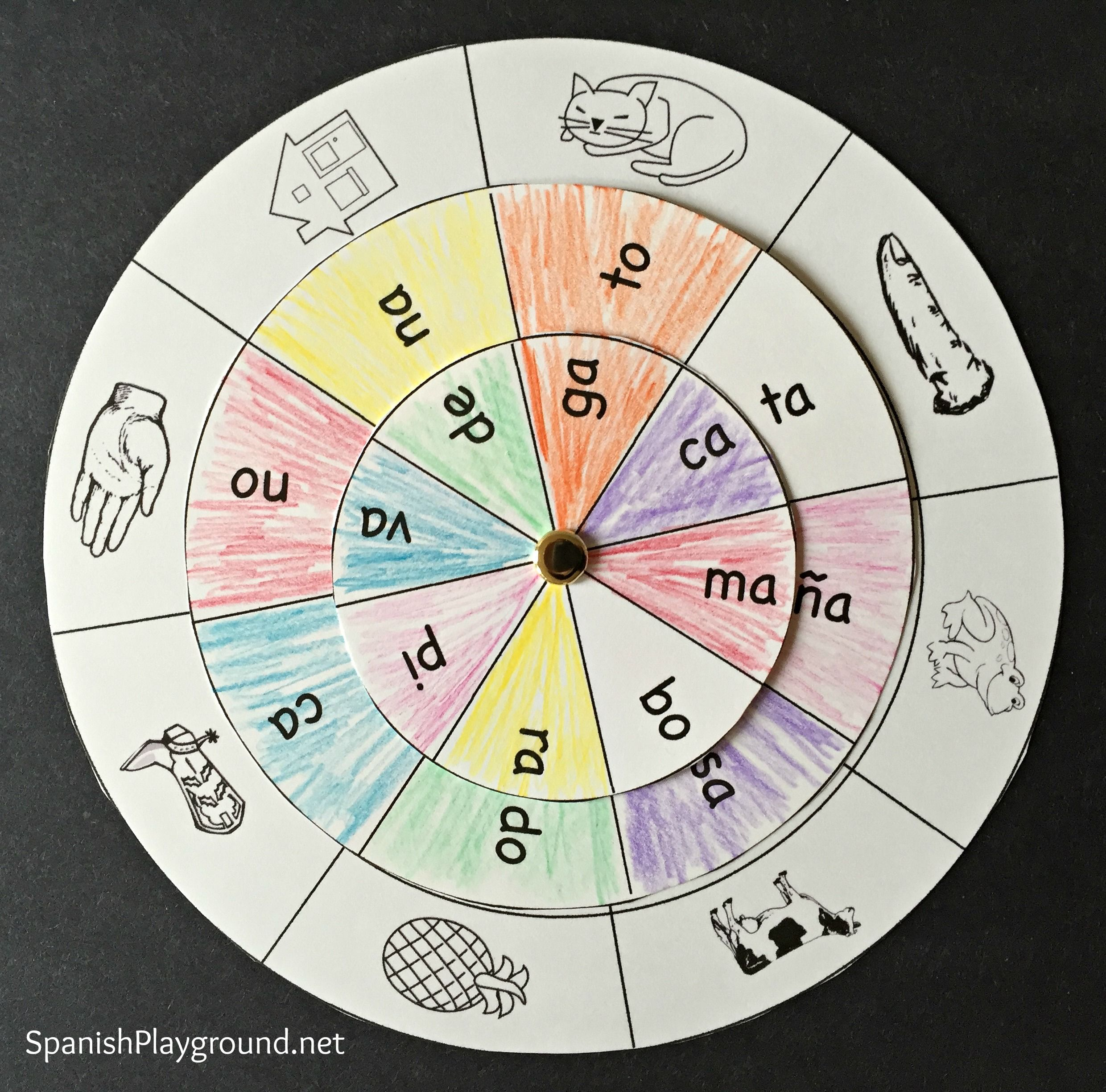 Spanish Syllables Printable Wheel
