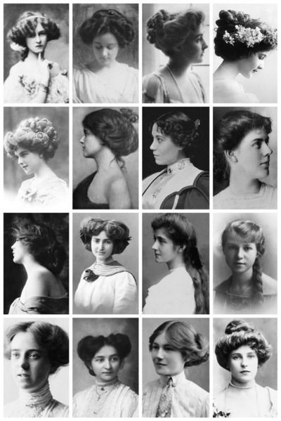 Women's Hairstyles From The Early 1900s Part I Historical Hair