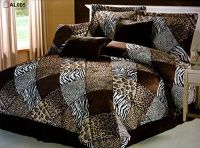 7 Pieces Multi Animal print Comforter set KING size ...