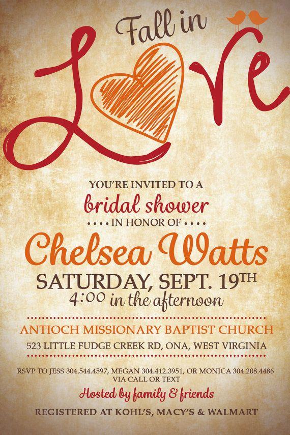 Fall Bridal Shower Invitations Cheap