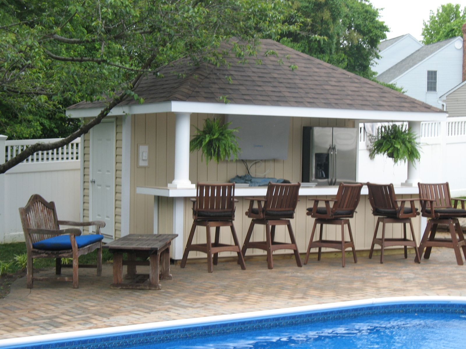 Pool Houses Sheds Bar 12' X 14' Siesta Poolside Bar Vinyl