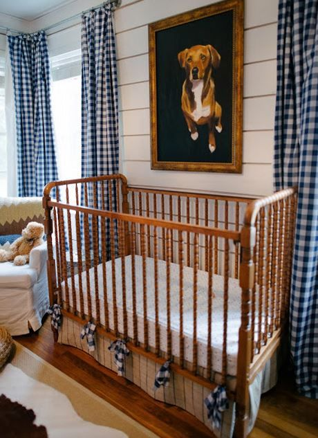 Blue Gingham Drapes Nursery Check Mate! Pinterest Boy