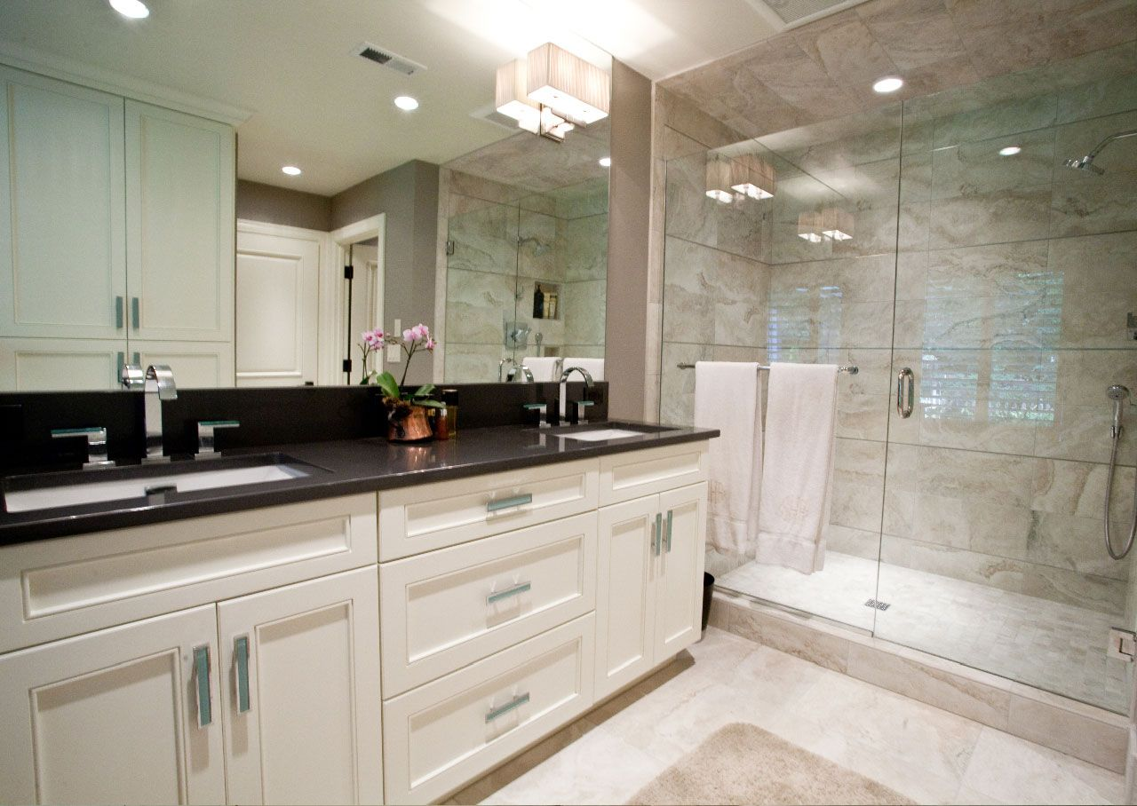 White Bathroom Vanity Ideas Black Granite Top Over White Bathroom Vanity Salle De