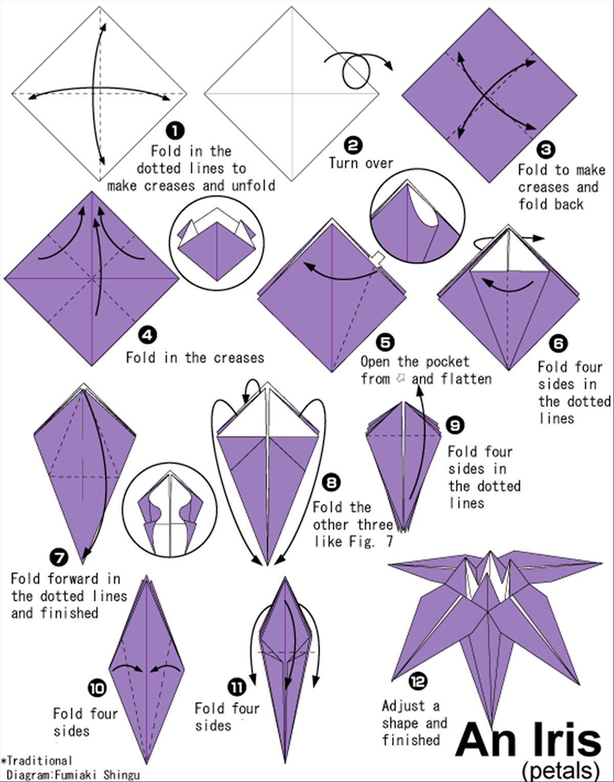 Origami Roses Step By Step For Beginners