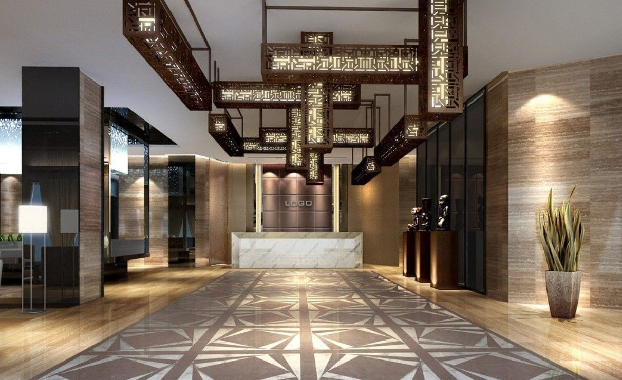 HOTEL LOBBY DESIGN Strange Droplight Lobby Hotel Interior Design