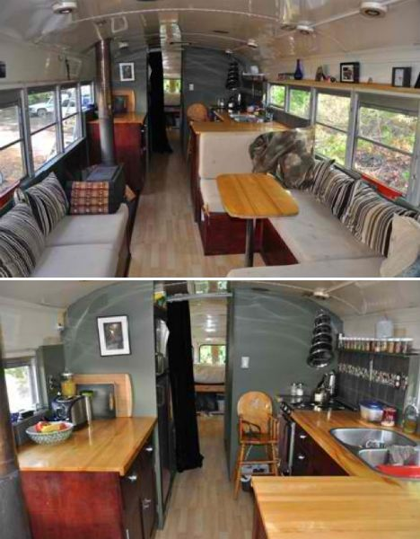 Small But Beautiful Showcase Of Tiny Houses Bus Conversion