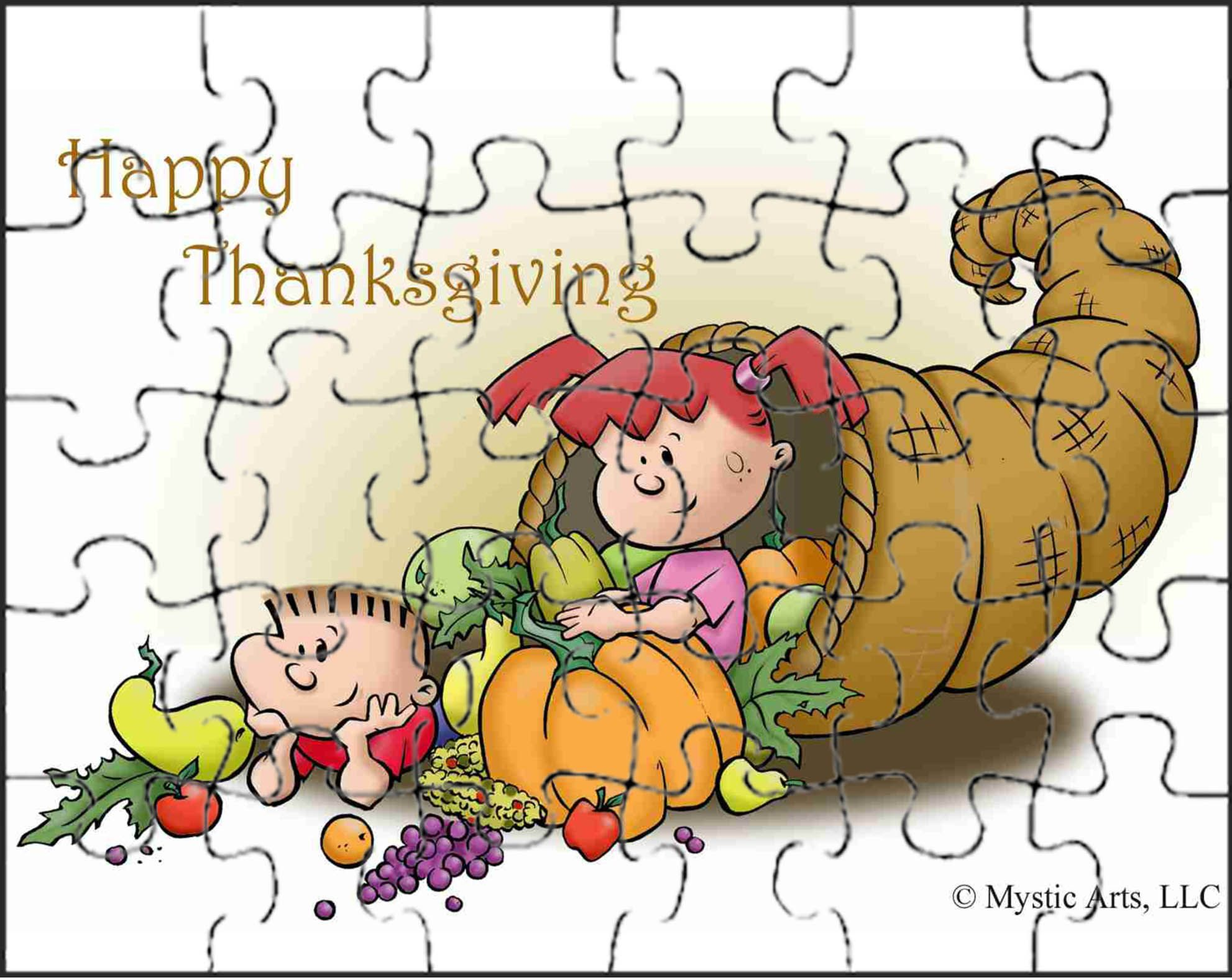 Thanksgiving Cornucopia Puzzle And Other Fun Activities For Kids