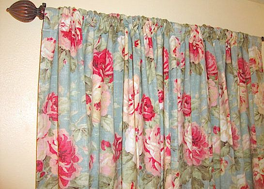 Teal Red Rose Curtains Queen Floral Rose By BELLASHOMEDECOR
