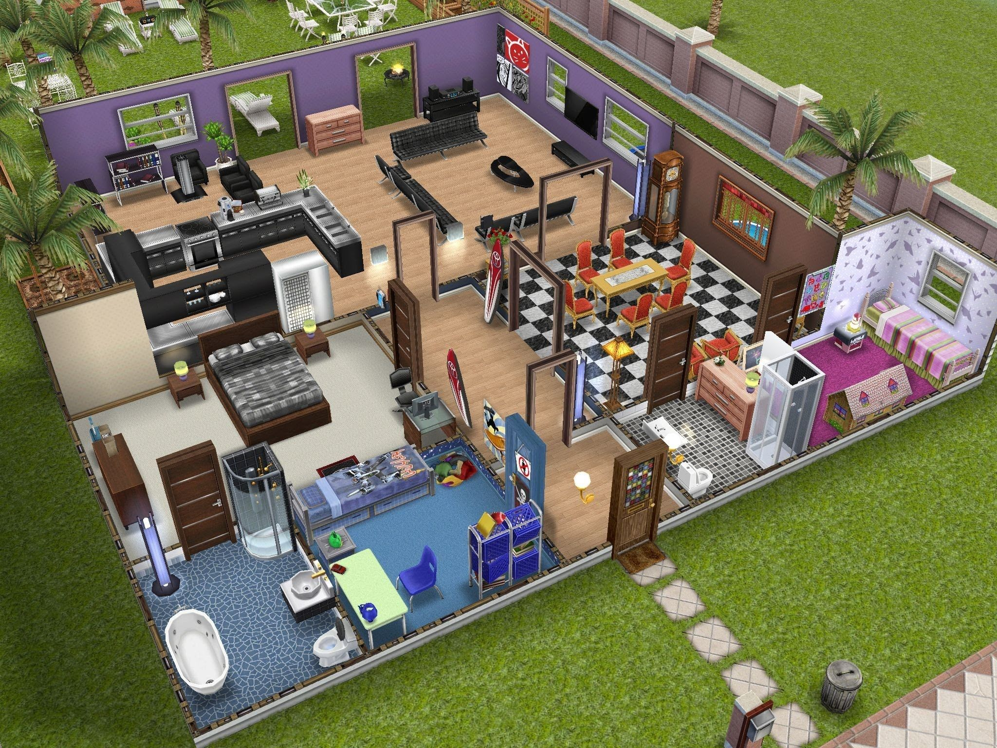 97 Best Images About Sims Freeplay Homes On Pinterest House