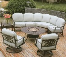 Beautiful Outdoor Furniture With Wrought Iron Sofa Base