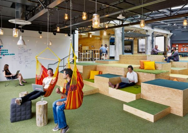 fun office design ideas Office Slides? A Draft Beer Bar? Check Out These 6