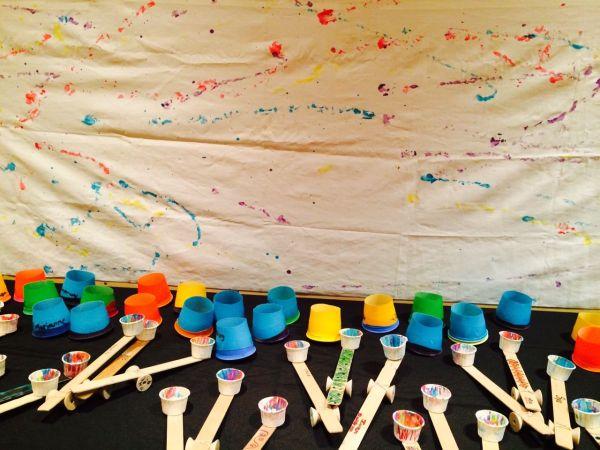 Catapult Paint Mural - Great Ideas Elementary School