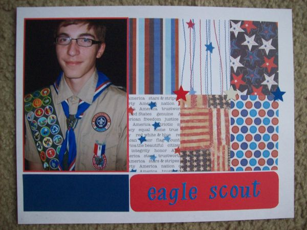 Eagle Scout - Scrapbooking Layouts