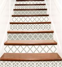 Decorative Vinyl Stair Tile Decals . Trellis Decor Steps ...
