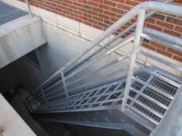 Outside Metal Staircase | Stair Design Ideas | barn office ...