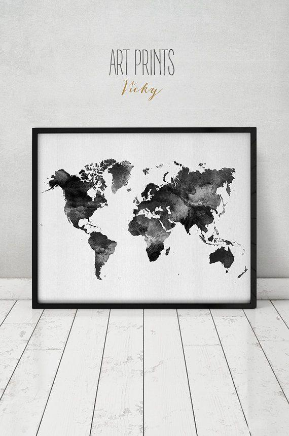 Die besten 25 Weltkarte schwarz wei Ideen auf Pinterest