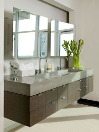 Bathroom , The Modern Bathroom Vanity : Floating Modern