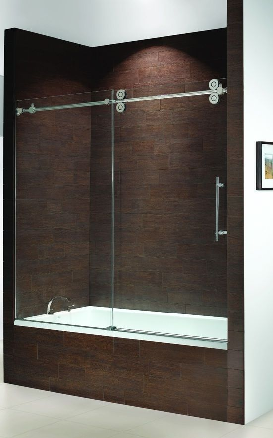 Frameless Bathtub Doors Kinetik Frameless Sliding Tub