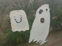 Halloween Kids Craft: Ghost Window Clings | Halloween for ...