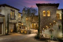 Mediterranean Tuscan Homes with Courtyards