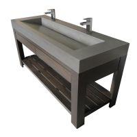 "Trueform 60""Lavare Vallum Concrete Bathroom Vanity Sink ..."