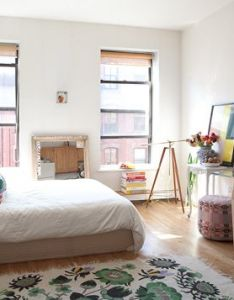 like the idea of using glass topped furniture in  small space sneak peek best studio apartments when lotta nieminen moved to new york also minimalistic cozy dream home elements pinterest rh