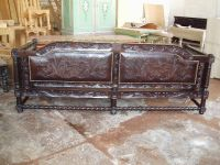 spanish mission antique leather chair - Google Search ...