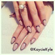 outline nails art - #stilettonails