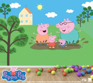 pig peppa mural wall george party muddy murals christmas birthday google puddles buscar con easy remove install sun