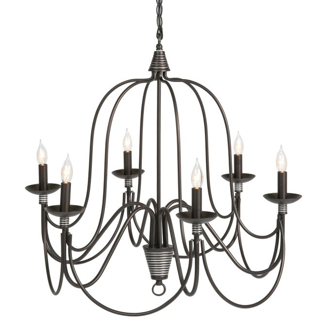 Best Choice Products Home 6 Light Ceiling Candle Chandelier Hanging Fixture W Bronze Finish