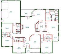 Single Story Open Floor Plans | ... Plan, Single Level One ...