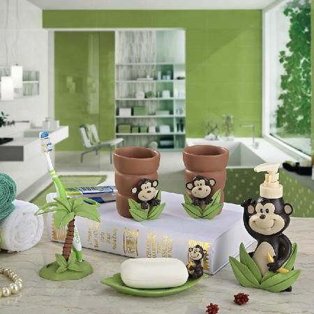fashion monkey five pieces set of bathroom set bathroom supplies