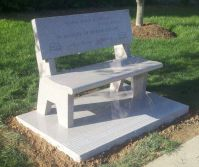 Granite Benches: Granite Memorial Benches