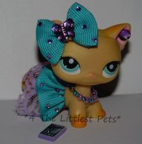 Littlest Pet Shop LPS clothes accessories CUSTOM SKIRT BOW ...
