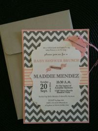 Maddie's Baby Shower Invitations made with my Cricut ...