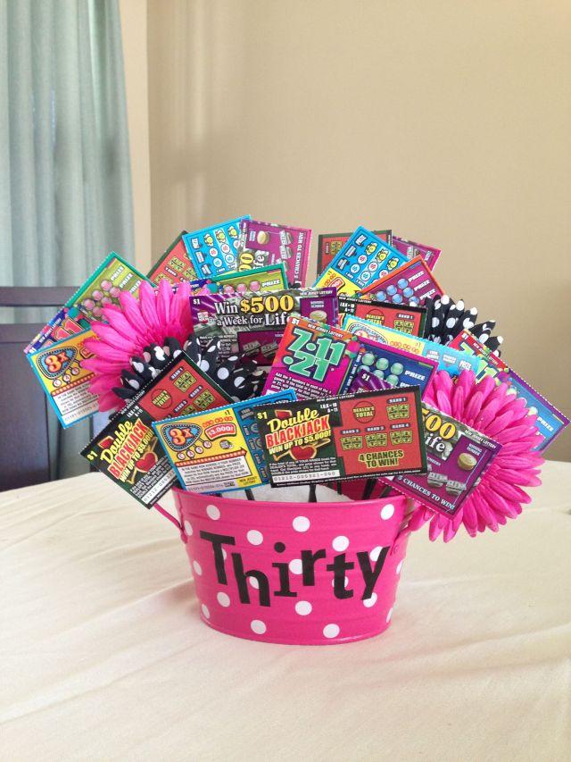 30th birthday gift lottery ticket ideas pinterest 30