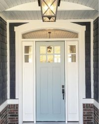 Grey Front Door Paint Color: Benjamin Moore Wedge. Shingle ...