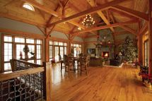 Open Timber Frame Room Walls Of Windows Sides