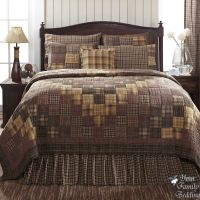 Country Rustic Brown Plaid Patchwork Twin Queen Cal King ...