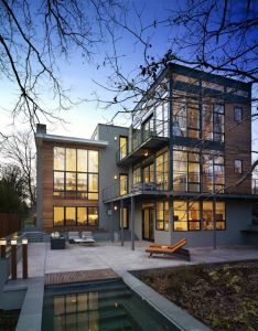 Alexandria based studio moore architects has designed the lakefront residence  remodel project of also by falls church virginia rh pinterest