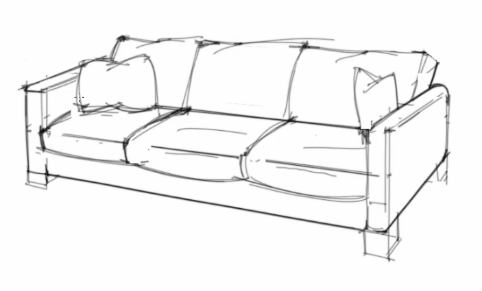 ID Render How To Draw A Sofa That Looks Comfortable Table And
