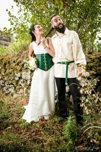 Our viking / celtic like wedding. All DIY : dress, leather ...
