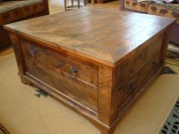 Rustic Square Coffee Tables   small spaces   Pinterest ...