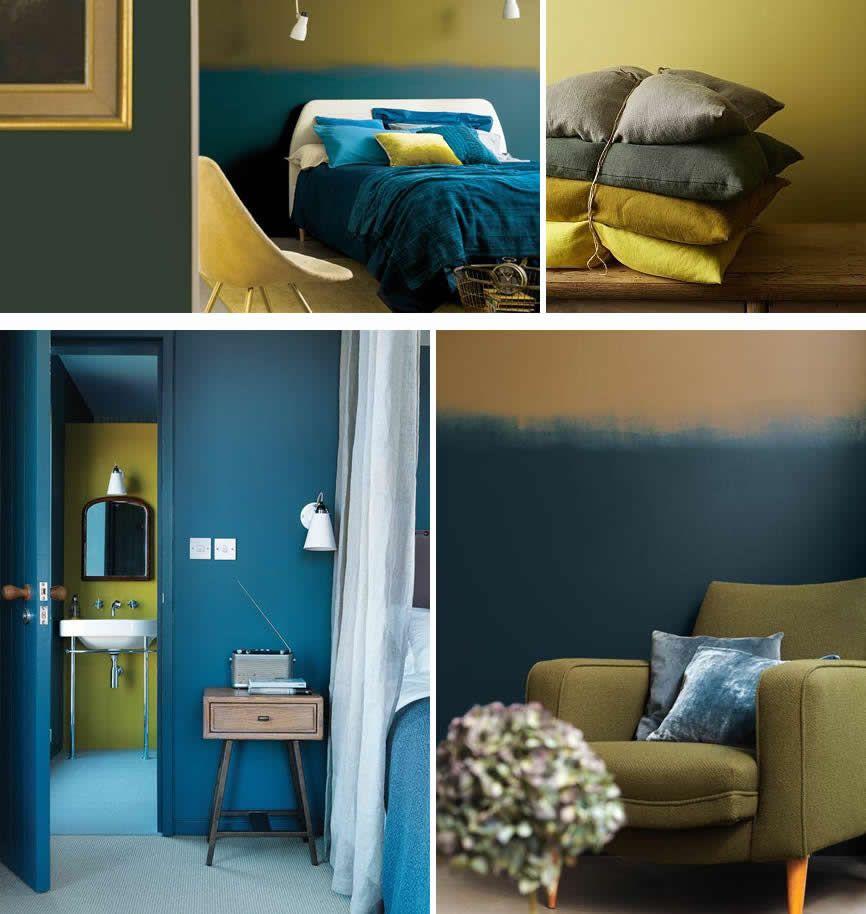 okergoud met blauw kleur van 2016  kleuren nieuw huis