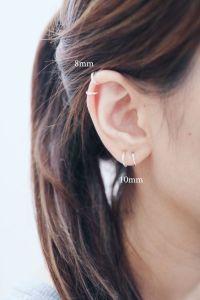 8mm & 10mm Hoop Earrings Cartilage Hoop by ...